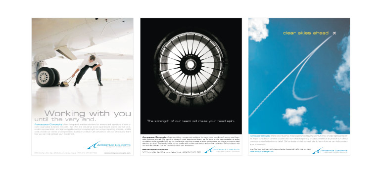 """Client: Aerospace ConceptsProject: ACL advertising campaignDescription: """"Strength of Our Team"""" advertising print campaign for Aerospace Concepts."""