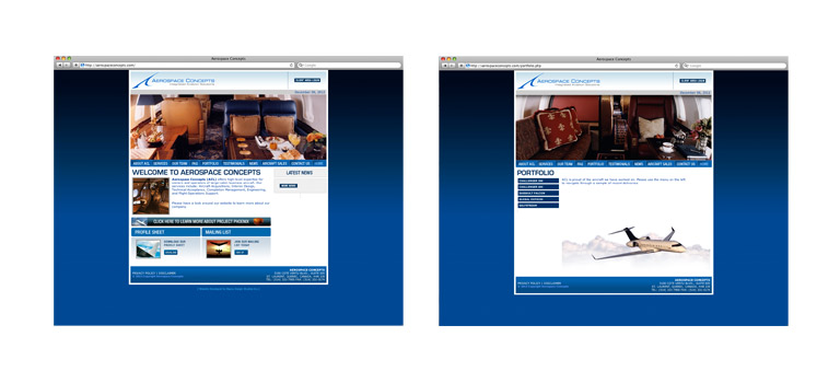 Client: Aerospace ConceptsProject: Corporate Website