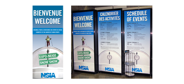 Client: NSIAProject: 2008 Snow ShowDescription: Designed and developed all marketing and advertising collateral for the 2008 NSIA Snow Show; pieces included branding, direct mail, presentation tools, banners, and all advertising pieces.