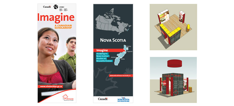 Client: Department of Foreign Affairs, Trade and Development Project: DFATD Trade Show MaterialDescription: Backwalls and Pop-Up Banners for theDepartment of Foreign Affairs, Trade and Development Canada